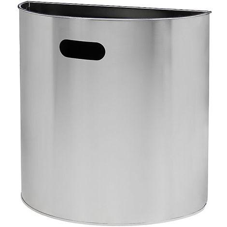 Poubelle murale | acier inoxydable | Brossé | 20 litres | 395x195x388 | Miluna | 1 pièce | medial