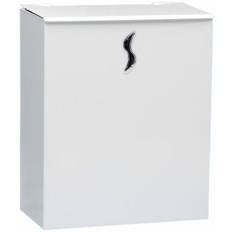 Poubelle murale | acier peint époxy | Blanc | 10 litres | 250x130x300 | Pura | 1 pièce | medial - Blanc
