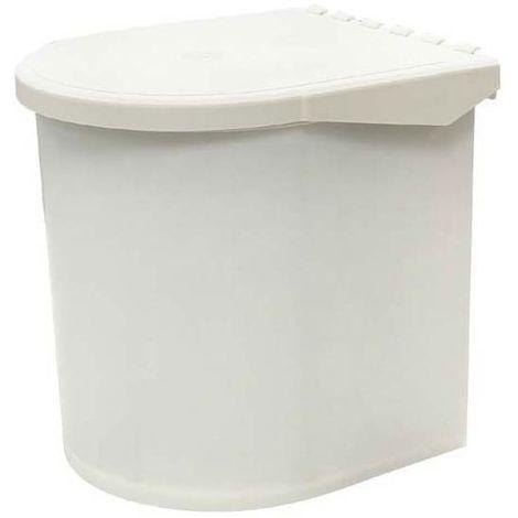 Poubelle pivotante à ouverture automatique 11l - Nombre de seaux : 1 - Contenance : 11 L - Pour caisson de largeur : 400 mm - Décor : Blanc - Largeur : 270 mm - Profondeur : 330 mm - Hauteur : 330 mm - Décor : Blanc