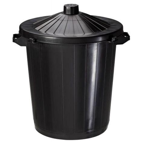 Poubelle plastique 80 litres Réglisse