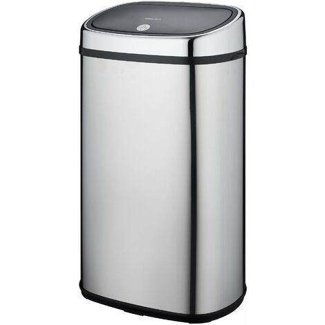 Poubelle push 60L CITY Inox