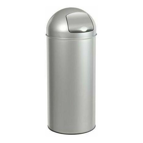 """main image of """"Poubelle Push avec couvercle à trappe - 45l - gris métal - ROSSIGNOL"""""""