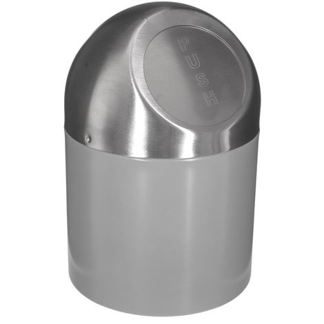 Poubelle Push - Diam. 17 cm - Gris