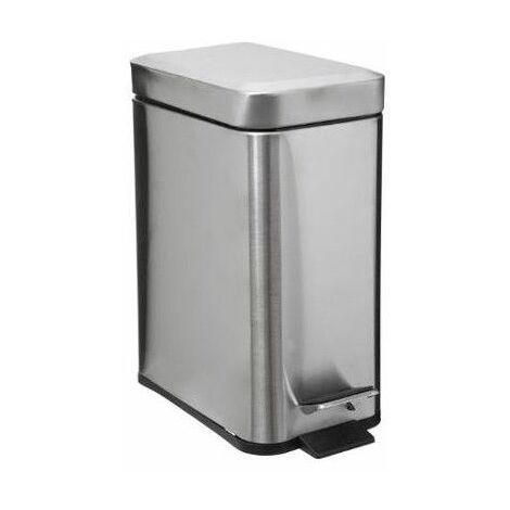 Poubelle rectangle - 5 L - Inox