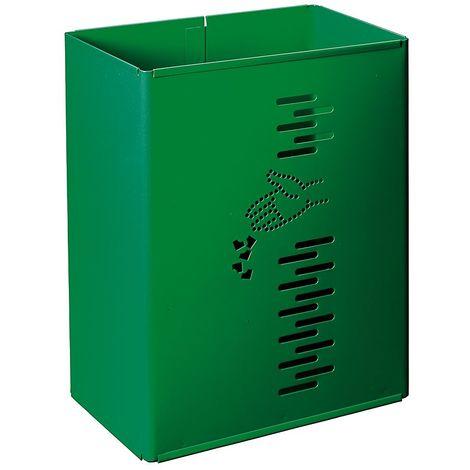 Poubelle rectangulaire | acier galvanisé à chaud peint époxy | Revêtement époxy | verdoyant | 24 litres | 300x197x400 | - Vert