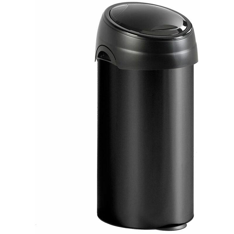 Meliconi - Collecteur de déchets Touch, capacité 60 l, noir - Coloris poubelle: noir|Coloris du couvercle: noir
