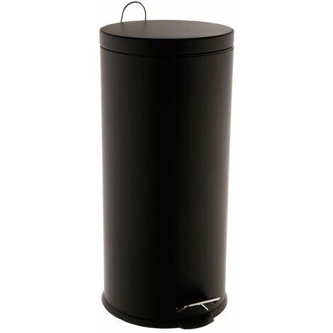 Poubelle ronde noire 30L
