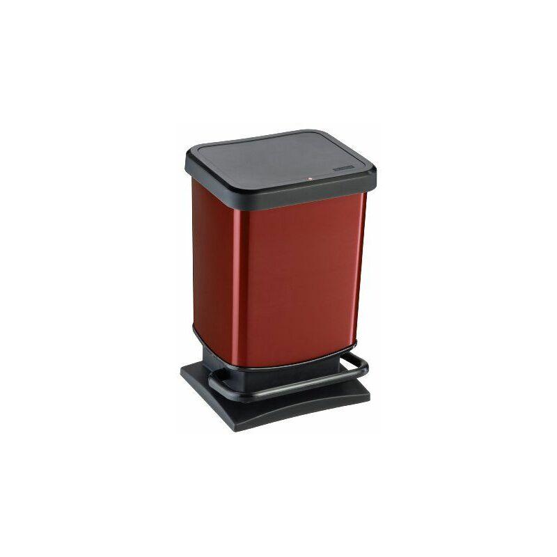 Rothobabydesign - Rotho 2043973 Paso Poubelle à Pédale Métallique Rouge 20 L