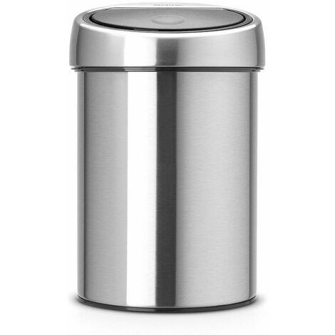 poubelle seau 3l mat steel - 363986 - brabantia