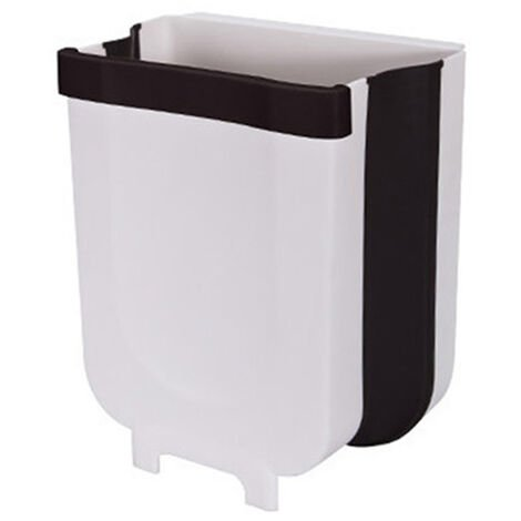Poubelle suspendue, poubelle de cuisine portable, poubelle de voiture, grand blanc