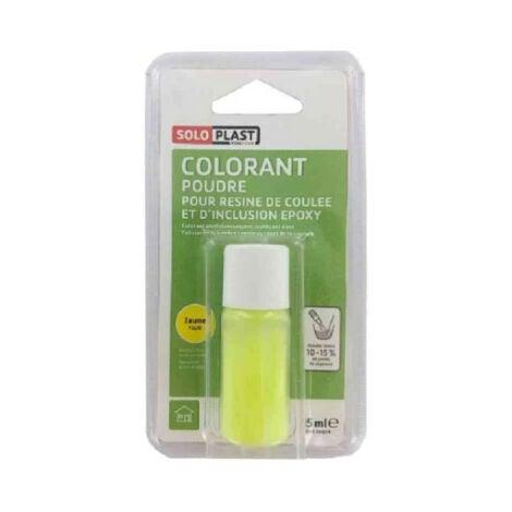Poudre colorante pour résine SOLOPLAST 15ml jaune fluo - Jaune