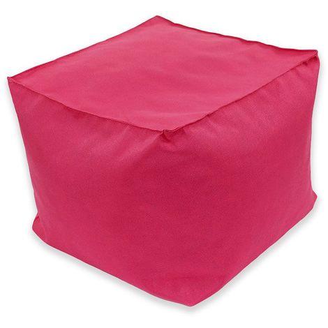 POUF A TOUT IN et OUTDOOR - Pouf pour intérieur et extérieur framboise 40x40 - Rose