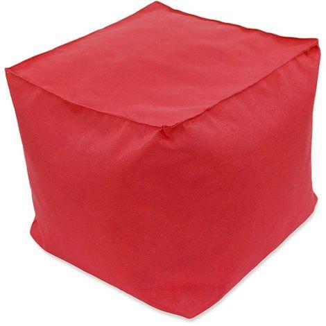POUF A TOUT IN et OUTDOOR - Pouf pour intérieur et extérieur rouge 40x40 - Rouge