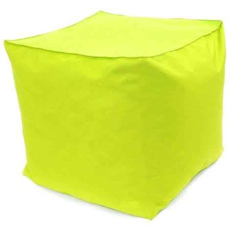 POUF A TOUT IN et OUTDOOR - Pouf pour intérieur et extérieur vert 40x40 - Vert
