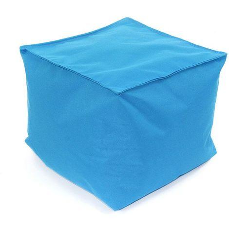 POUF A TOUT IN et OUTDOOR - <p>Pouf pour intérieur et extérieur bleu 40x40</p> - Bleu