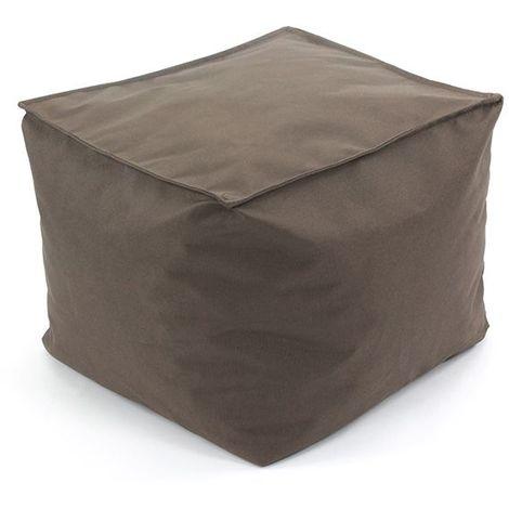 POUF A TOUT IN et OUTDOOR - <p>Pouf pour intérieur et extérieur moka 30x30</p> - Marron