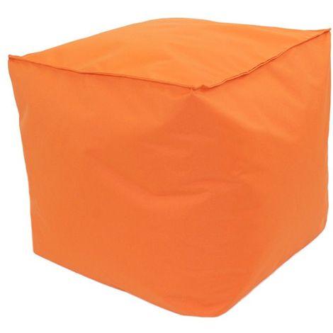POUF A TOUT IN et OUTDOOR - <p>Pouf pour intérieur-extérieur orange 30x30</p> - Orange