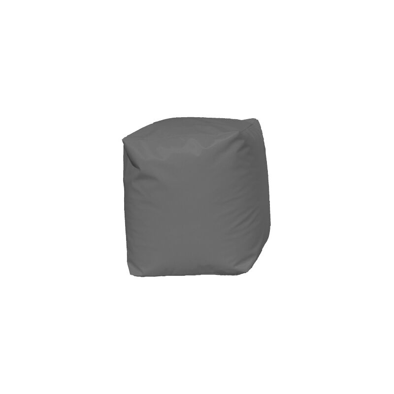 Pouf Cube Gris Gris 45 X 38 X 38 cm - Gris