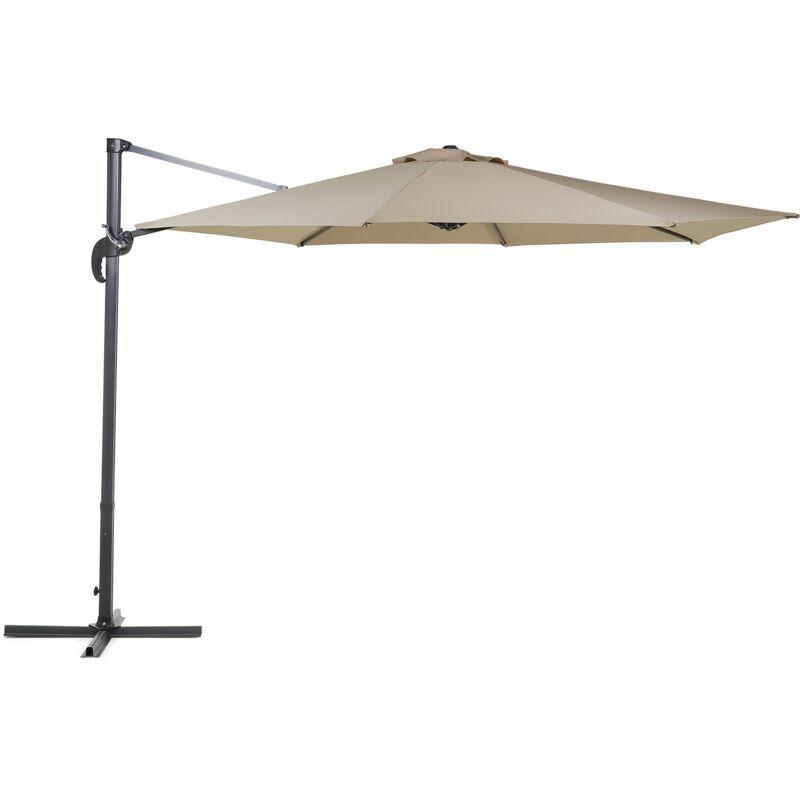 Grand parasol de jardin beige sable Ø 300 cm SAVONA