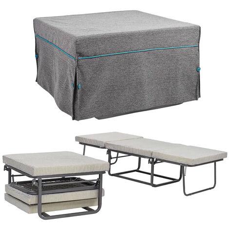 Pouf letto trasformabile pieghevole con materasso nuzzi pouf letto morfeo grigio - Letto pieghevole con materasso ...