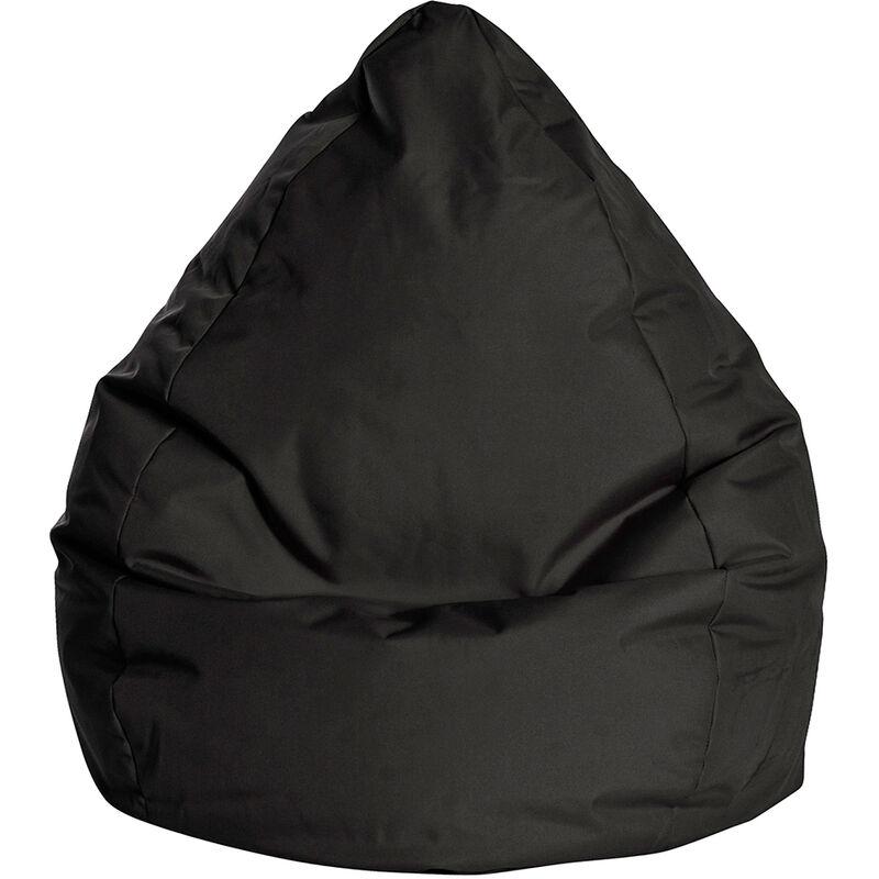 Pouf Poire Brava L noir - noir - SITTING POINT