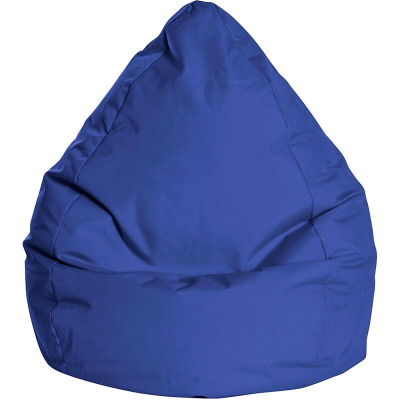 Pouf Poire Brava L bleu - bleu - SITTING POINT