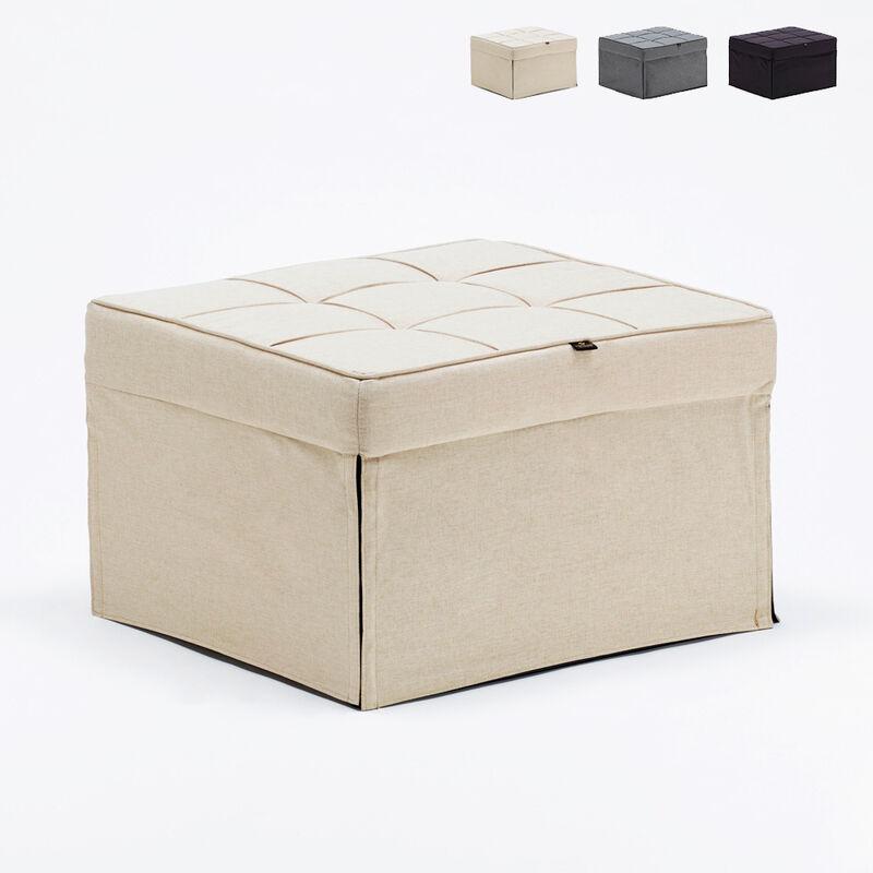 Pouf poltrona letto pieghevole in tessuto Sweet Relax | Colore: Beige