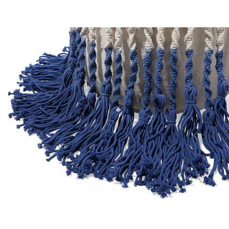 Pouf weiß-blau 45 x 45 cm PATIALA - 108284