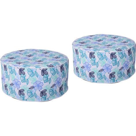 Poufs gonflables lot de 2 minis fauteuils poire poignée de transport intégrée housse amovible imperméable PVC polyester bleu