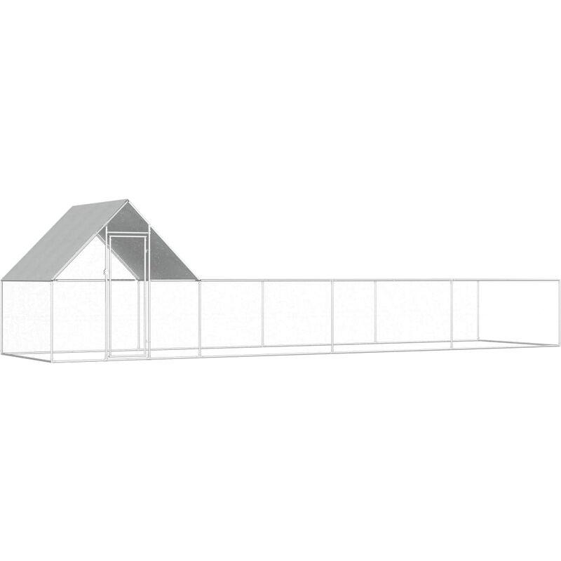 Vidaxl - Poulailler 8 x 2 x 2 m Acier galvanisé