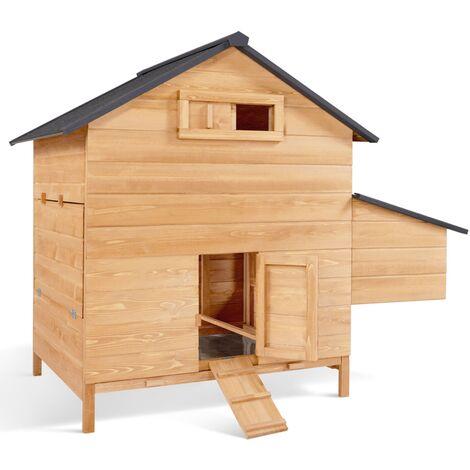 Poulailler chalet en bois 6 à 10 poules avec pondoir