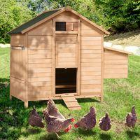Poulailler chalet en bois 8 à 12 poules avec pondoir