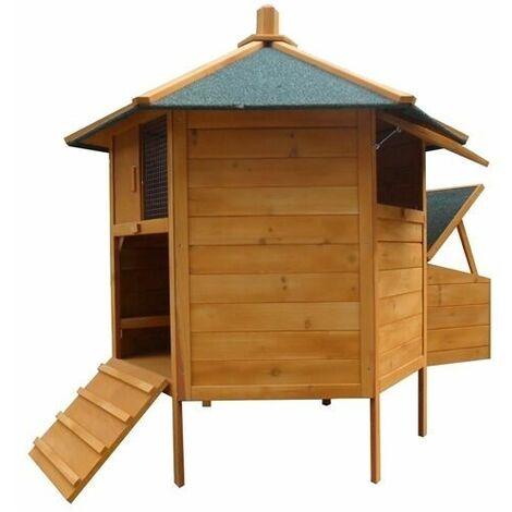 Poulailler Clapier 6-Angles De Clôture Cage En Bois