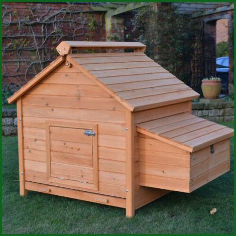 Poulailler Clapier Cage 8 Poules En Bois