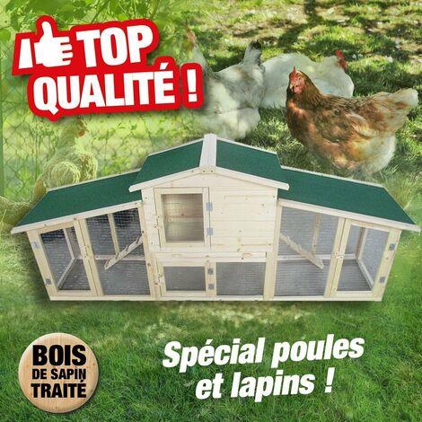 Poulailler - clapier grande taille pour poules, poulets, lapins...