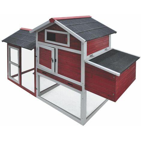 Poulailler columbus rood box2/2 200x80x120cm