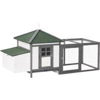 Poulailler cottage multi-équipement perchoir rampe pondoir enclos tiroir à déjection 196L x 74l x 98H cm bois massif pin 92