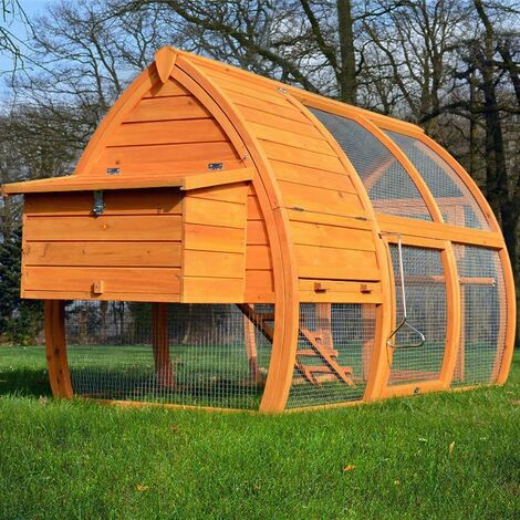 Poulailler en bois pour jardin extérieure 2/5 poules cage canard 2 perches 172x76x102 cm-Modèle 126 Grande Poule
