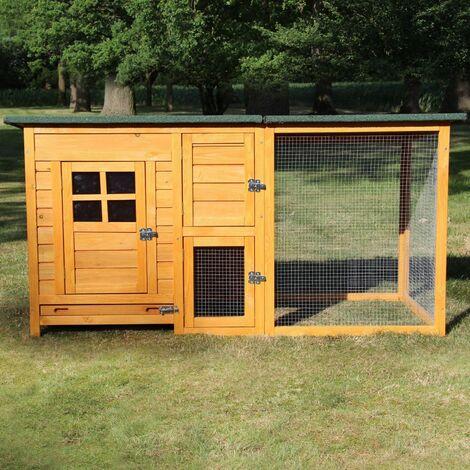 Poulailler en bois pour jardin extérieure 5 poules Cage Canard 2 perchoir Nichoir 150 x 80 x 68 cm - Modèle 147 FLEXI Standard