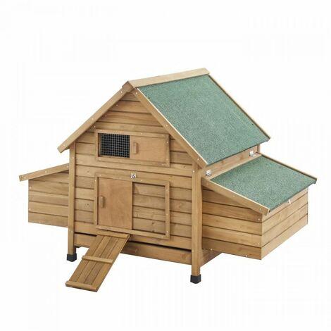 Poulailler en sapin Nestie - 150x100x96cm - Bois - 4 a 6 poules