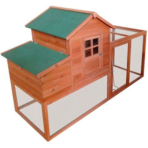 Poulailler Exterieur avec nichoir toit pliant 198,5x120x79 cm Modele : Mere poule 190 BB LOISIR