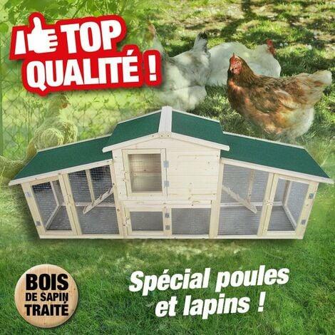 Poulailler grande taille pour poules, poulets, lapins...
