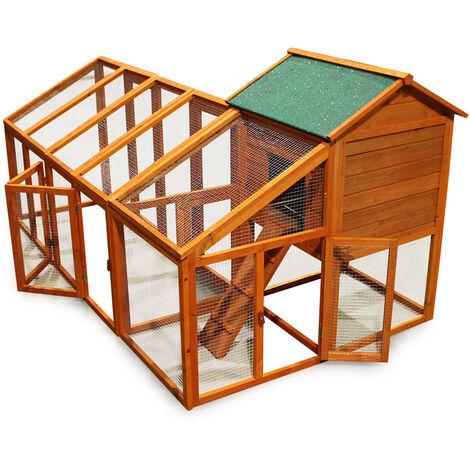 Poulailler Poulailler en bois avec une espace libre variable et nichoir