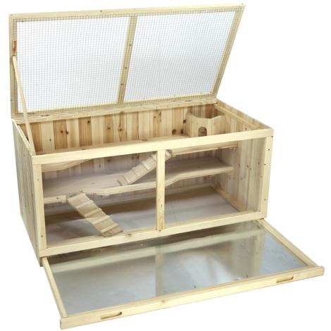 Poulailler poulet Clapier à lapin en bois 13,0 x 54,4 x 60,0 cm
