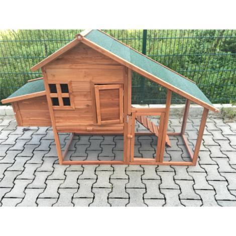 Poulailler poulet Clapier à lapin en bois 172 cm x 66 cm x 120 cm