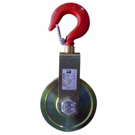 Poulie a chape simple diamêtre réa:100 mm-diamêtre cable:8/10 mm-cmu:500 kg