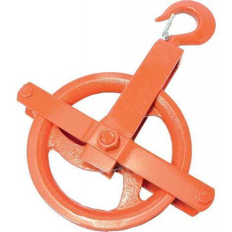Poulie Acier rouge pour corde Ø b.25,0mm