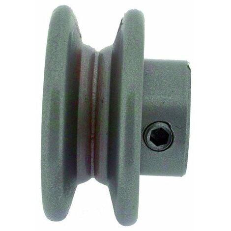"""main image of """"Poulie clavetée à gorge trapézoïdale diamètre extérieur 101,6 mm - diamètre int 25,4 mm"""""""
