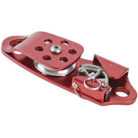 Poulie de treuil autobloquante à cotés oscillants en aluminium