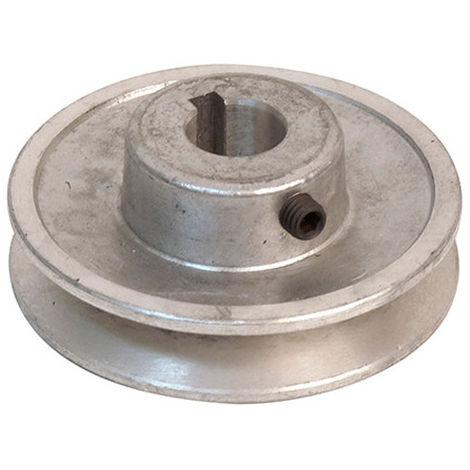 Poulie en aluminium - D. 80 x Al. 19 mm